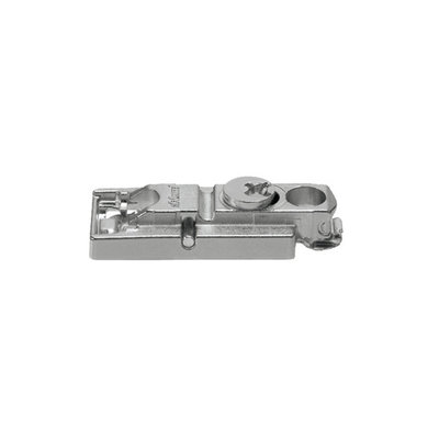 Montageplaat Clip Top recht model, 3 mm