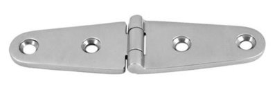 Staartscharnier RVS, 100x25x4 mm