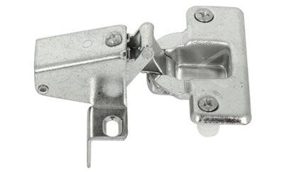 Klepscharnier zonder plug/met veer 16mm